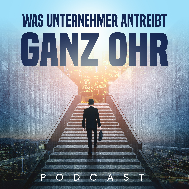Podcast Cover Design mit Zielgruppe Unternehmer und Freiberufler