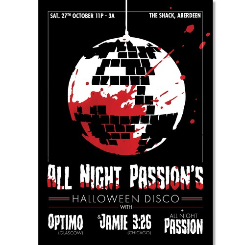 Poster for Halloween Disco Event