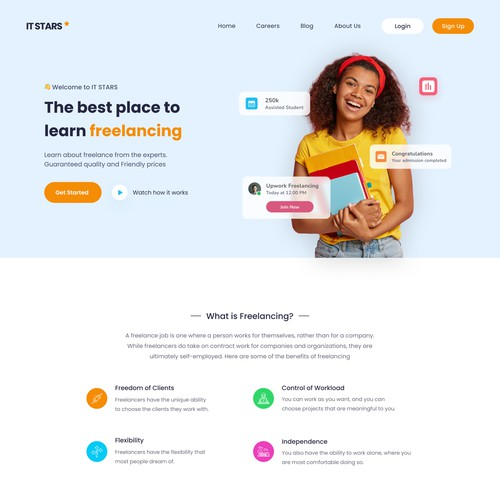 Online Course Landing Page