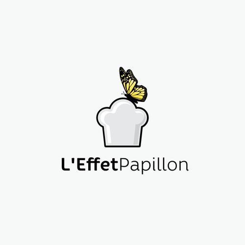 Butterfly restaurant logo