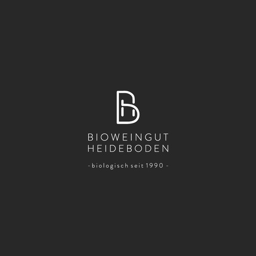 logo concept for a biological winegrowing company