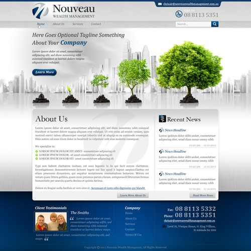 Help Nouveau Wealth Management with a new website design