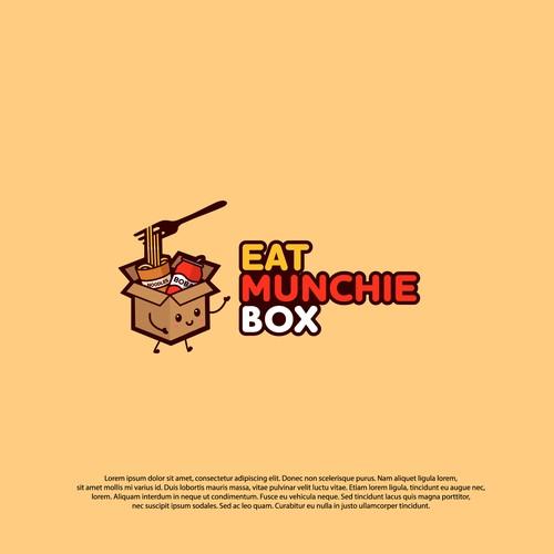 Logo concept for Eat Munchie Box