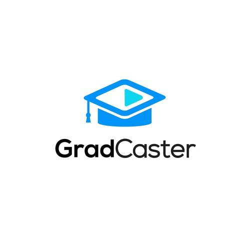 GradCaster Logo Design