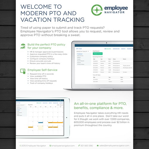 Flyer for employee navigator