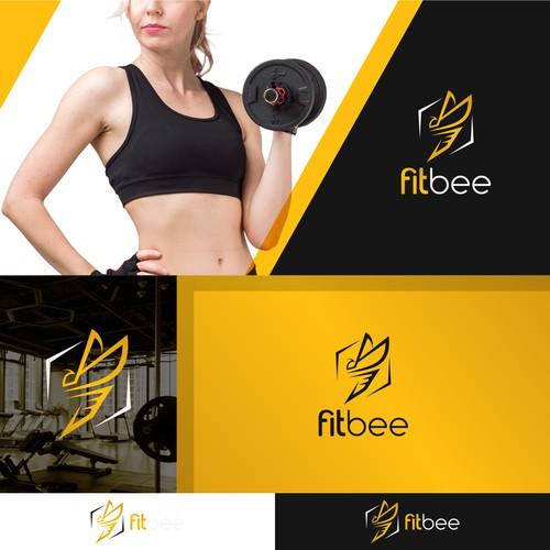 An abstract bee logo concept