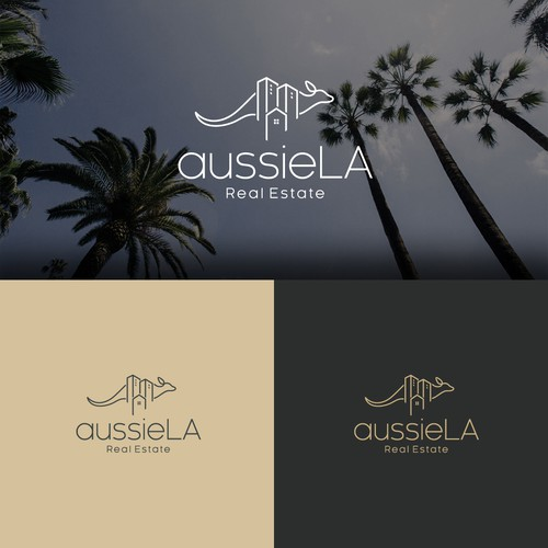 Elegant logo concept for aussieLA Real Estate