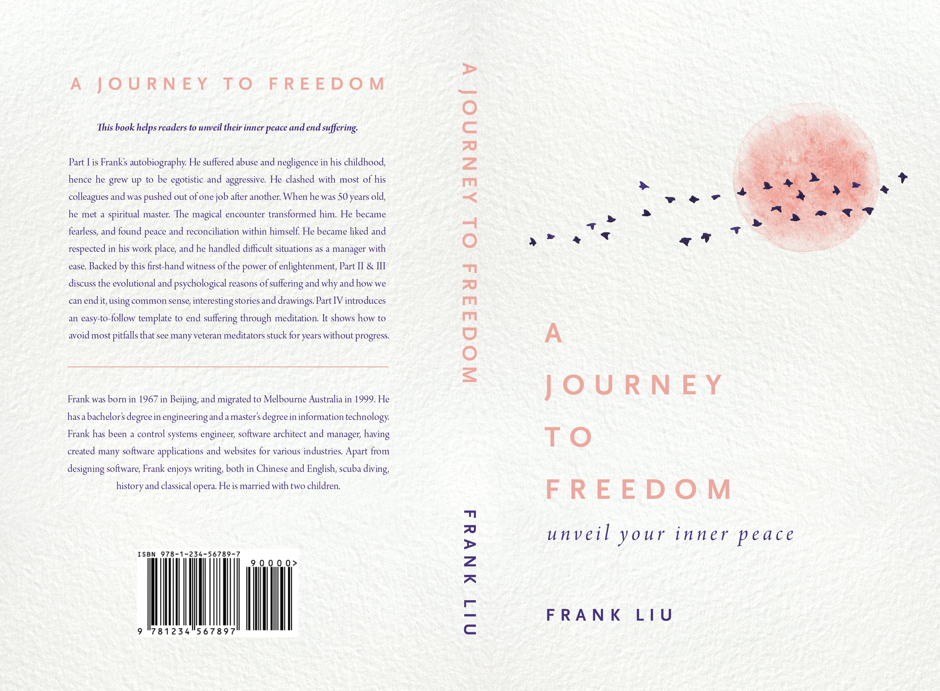 Design book cover: A JOURNEY TO FREEDOM