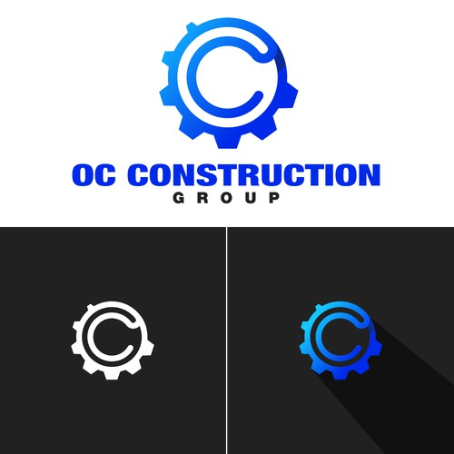 A mechanical logo for a construction company