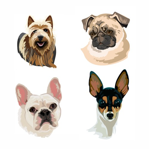 Illustrations of dogs wanted for GetThere UX