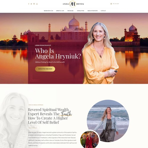 Elegant Landing Page for World Class Spiritual Master