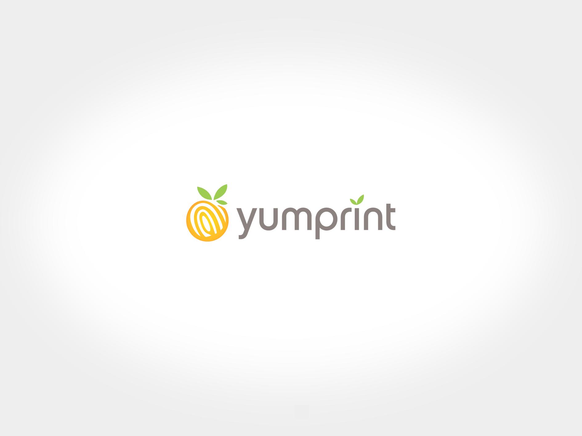"yumprint ""your food thumbprint"" needs a new logo"