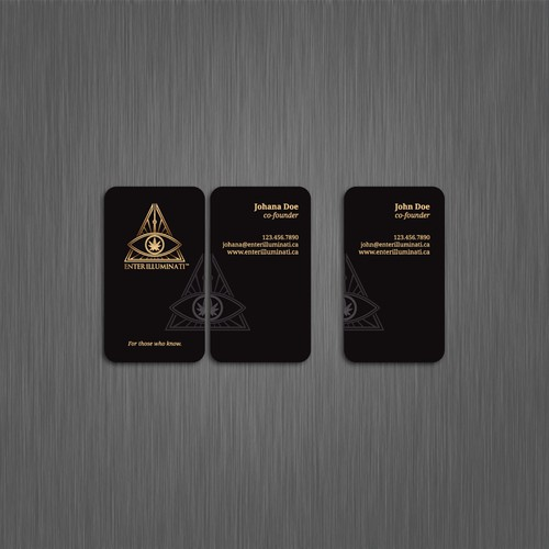Enter Illuminati business cards