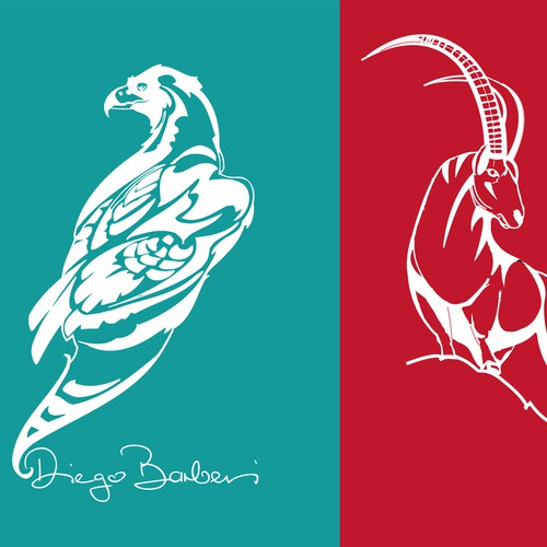 Underwear design: Golden eagle & ibex graphic needed