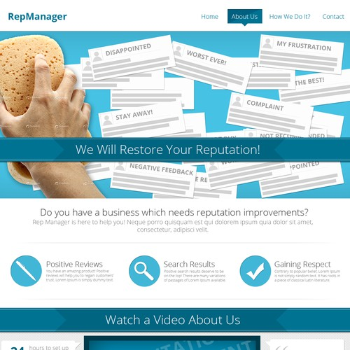 website design for Rep Manager