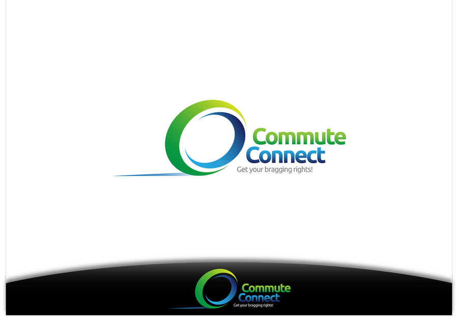 Create the next logo and business card for Commute Connect
