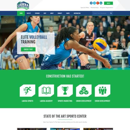 Sports Center Website Redesign