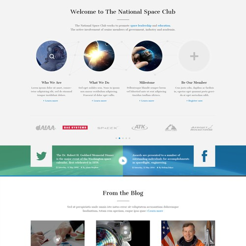 Website Design for the National Space Club