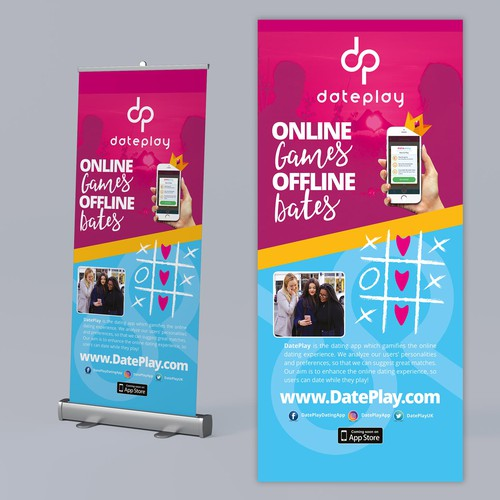 Rollup Banner App DatePlay