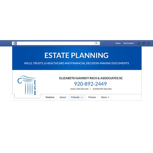 Estate planning law firm Facebook cover