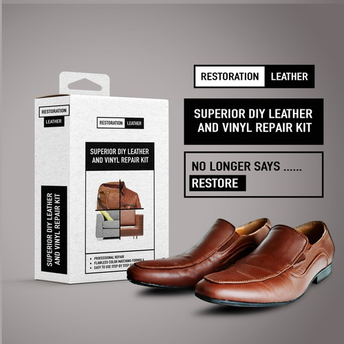 Packaging  Superior DIY Leather and Vinyl Repair Kit