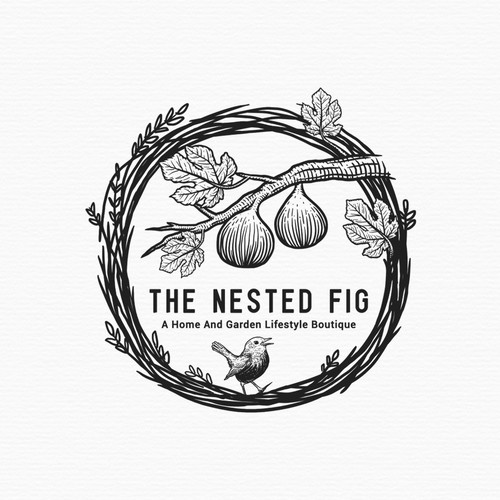 Logo proposal for The Nested Fig