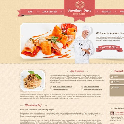 Create the next website design for Chic Personal Chef
