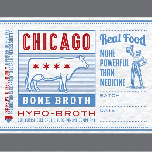Artisanal Bone Broth Label