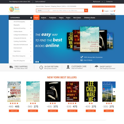 Landing Page Design for best book sales
