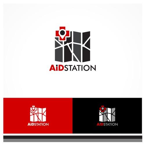 "Logo design for ""AID Station"""