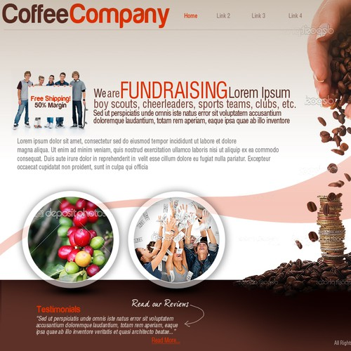 Help Coffee Fundraising Company with a new website design