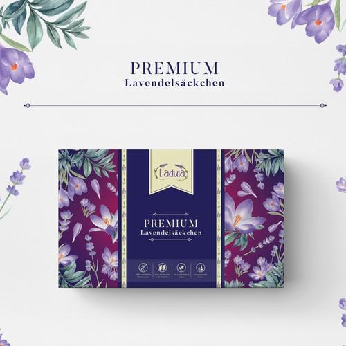 Cotton Lavender Bags Packaging design