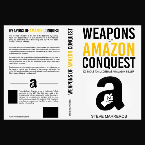 Bold book cover for Weapons of Amazon Conquest