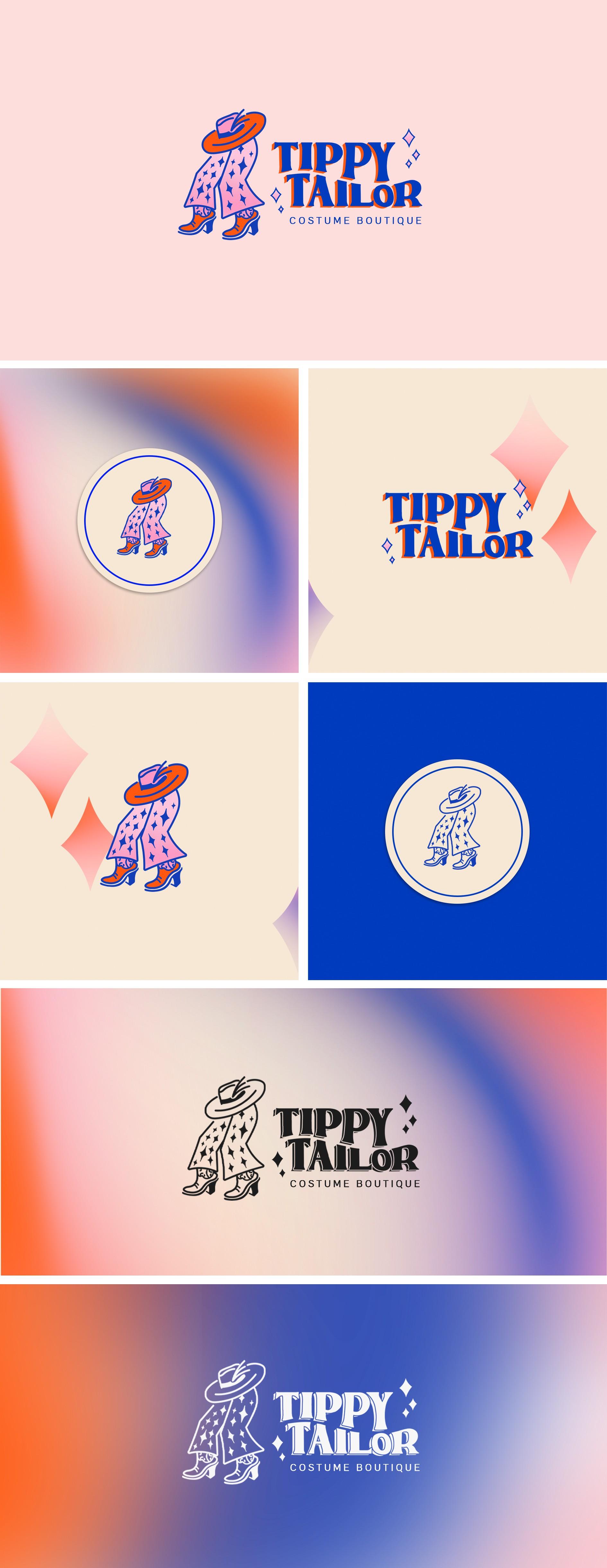 Design a fun logo for a colorful costume boutique