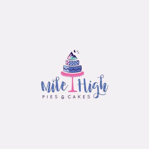 Organic logo for cake designer