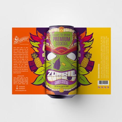 Cocktail Label Design - Contest Entry