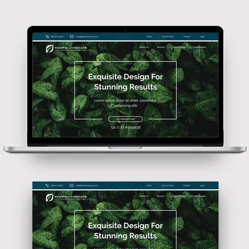 Website Design For a Landscaping Company