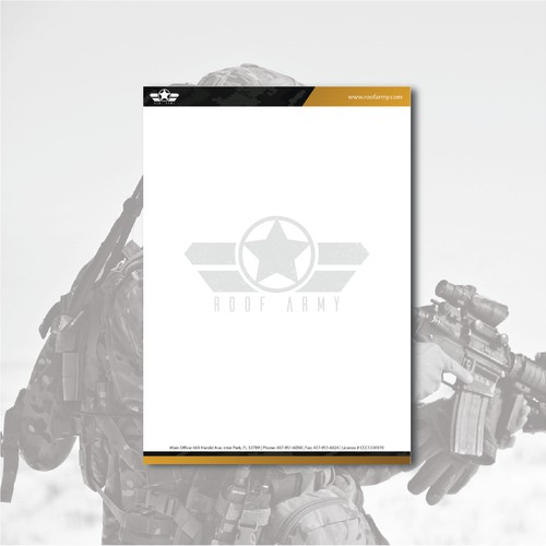 Letterhead For Roof Army