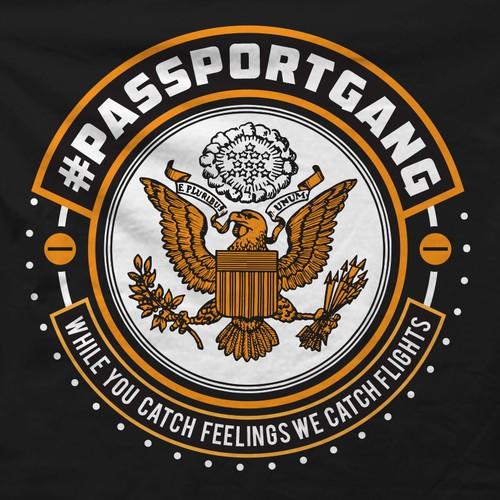 T shirt design for PassportGang