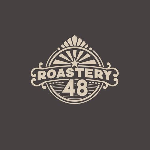 Logo design concept for a coffee bean roastery