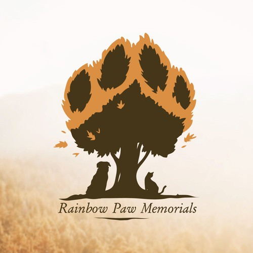 Logo concept for Raindow Paw Memorials