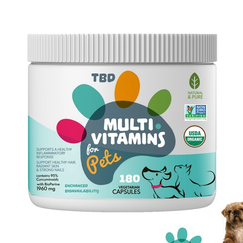 pets vitamin label