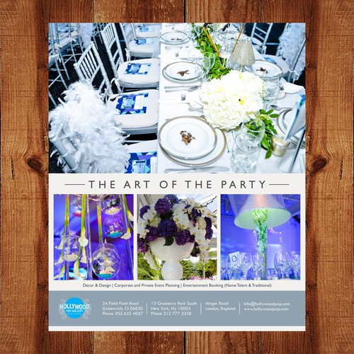 Magazine Ads for Event Planning Company