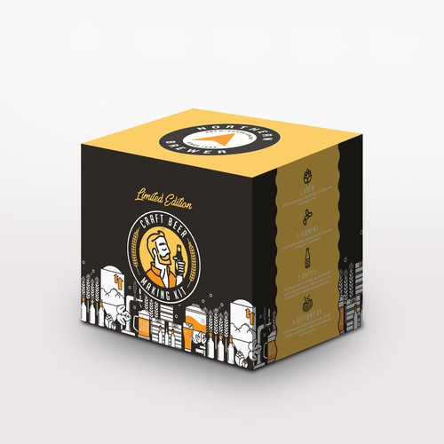 Craft beer making kit package design