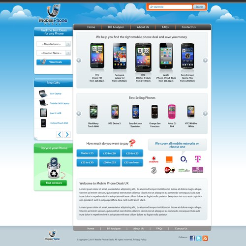 Create the next website design for Mobile Phone Deals UK