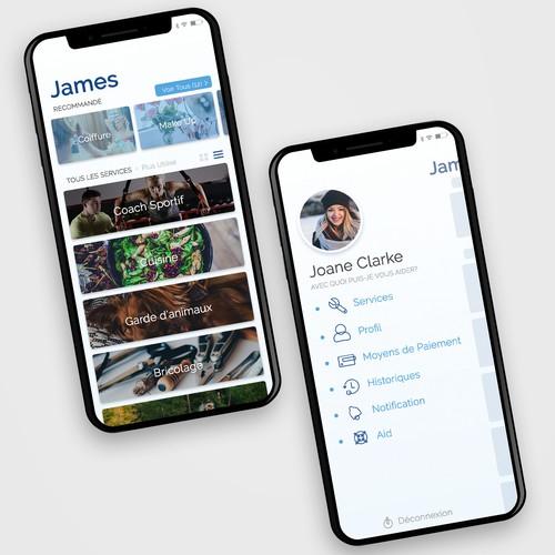 JAMES App - Home