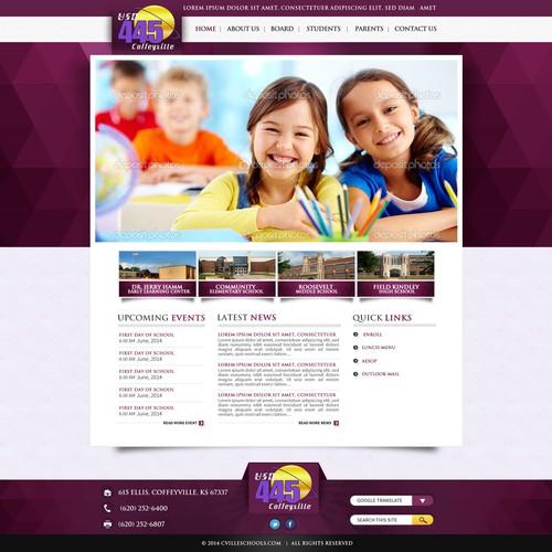Web Design Conceptweb for Cvilles Sochools