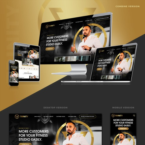 Website Design for fitness consulting agency.