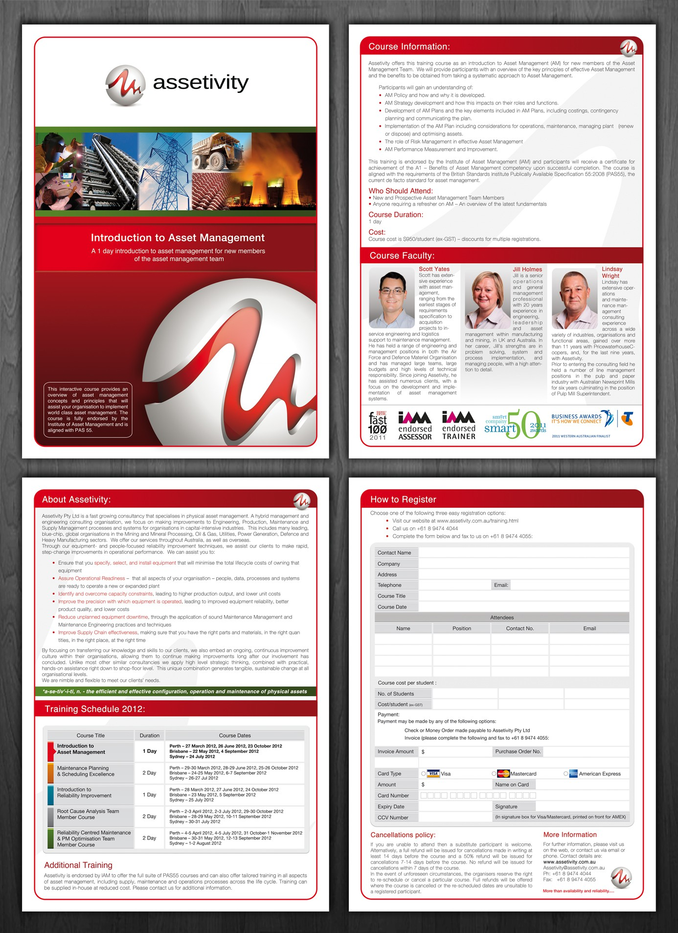 Training brochure design wanted for Assetivity