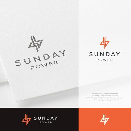 Minimalistic logo style.  lightning